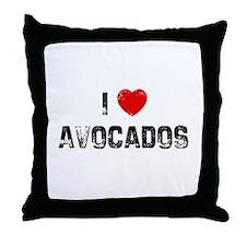 I * Avocados Throw Pillow