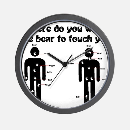 Where do you want the bear to Wall Clock