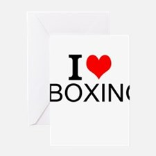 I Love Boxing Greeting Cards