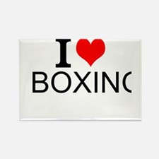 I Love Boxing Magnets
