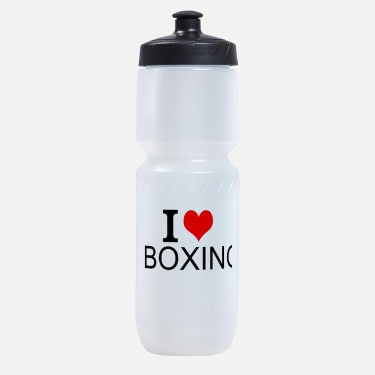 I Love Boxing Sports Bottle
