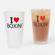 I Love Boxing Drinking Glass