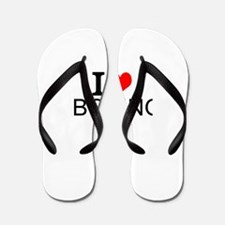 I Love Boxing Flip Flops