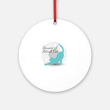 Attack Cat Round Ornament