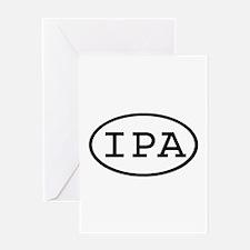IPA Oval Greeting Card