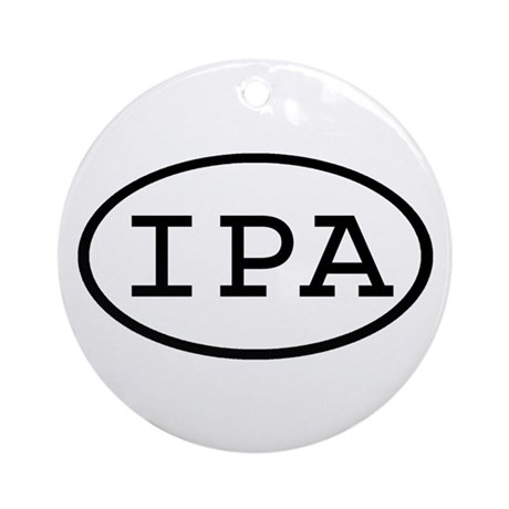 IPA Oval Ornament (Round)