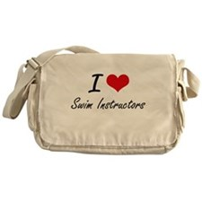 I love Swim Instructors Messenger Bag