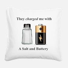 Salt Battery Square Canvas Pillow