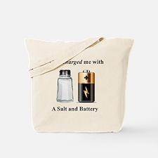 Salt Battery Tote Bag