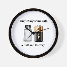 Salt Battery Wall Clock