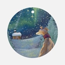 Cute Galgo Round Ornament