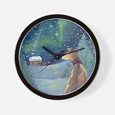 Cute Whippet christmas Wall Clock