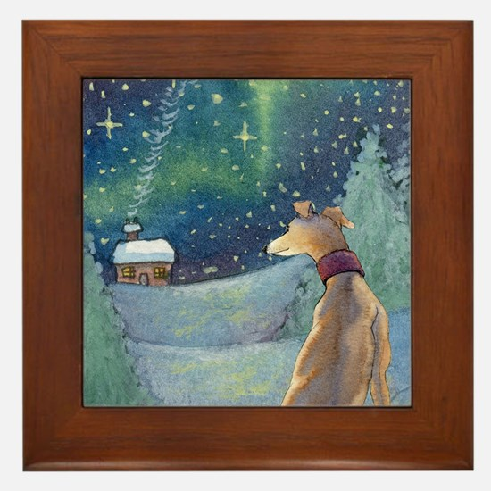 Funny Greyhounds Framed Tile