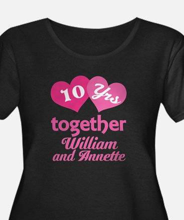 Personalized Anniversary Gift Plus Size T-Shirt