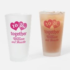 Personalized Anniversary Gift Drinking Glass