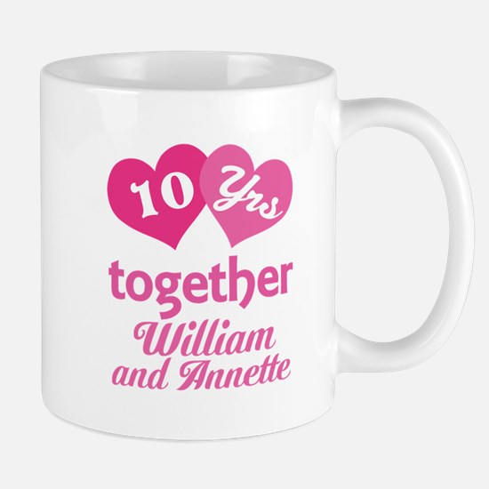 Personalized Anniversary Gift Mugs
