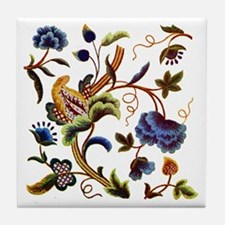 Elizabethan Embroidery Tile Coaster