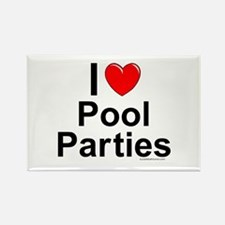Pool Parties Rectangle Magnet