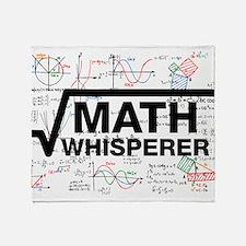 math whisperer Throw Blanket