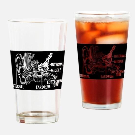Ear Diagram Drinking Glass