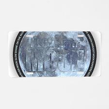 I Love the Moon Aluminum License Plate