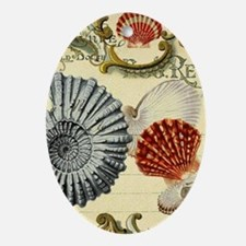 elegant paris beach seashells Oval Ornament