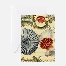elegant paris beach seashells Greeting Cards
