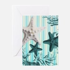 romantic seashells shabby chic Greeting Cards