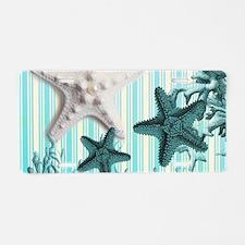 romantic seashells shabby c Aluminum License Plate