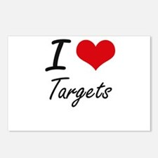 I love Targets Postcards (Package of 8)