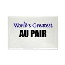 Worlds Greatest AU PAIR Rectangle Magnet