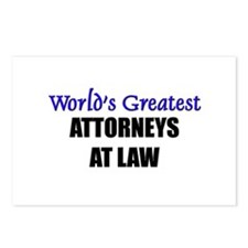 Worlds Greatest ATTORNEYS AT LAW Postcards (Packag