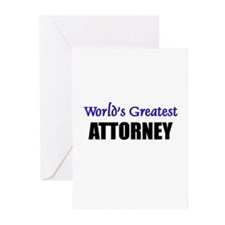 Worlds Greatest ATTORNEY Greeting Cards (Pk of 10)