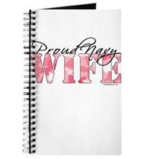 Proud Navy Wife (Pink Butterfly Camo) Journal