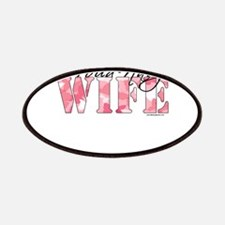 Proud Navy Wife (Pink Butterfly Camo) Patch