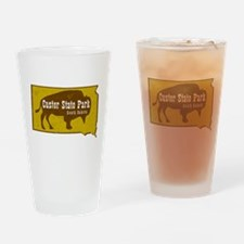 Custer State Park Bison Drinking Glass