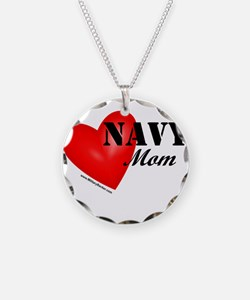 Red Heart_Navy_Mom.png Necklace