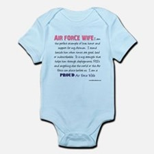I am...Air Force Wife.png Infant Bodysuit