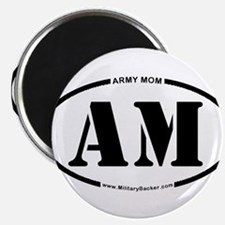 """Army Mom (Oval) 2.25"""" Magnet (10 pack)"""