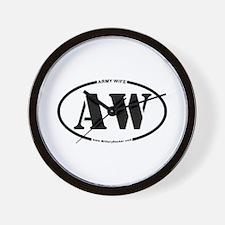 Army Wife (Oval) Wall Clock