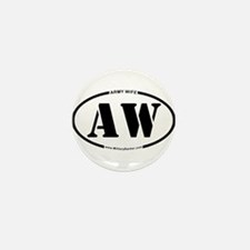 Army Wife (Oval) Mini Button (10 pack)