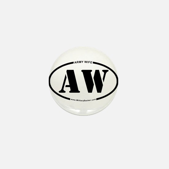 Army Wife (Oval) Mini Button