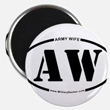 "Army Wife (Oval) 2.25"" Magnet (10 pack)"