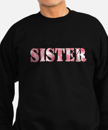 Proud Army Sister (Pink Butterfly Camo) Sweatshirt
