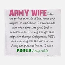 I am...Army Wife.png Throw Blanket