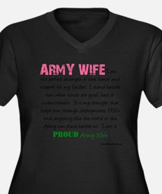 I am...Army Wife.png Women's Plus Size V-Neck Dark