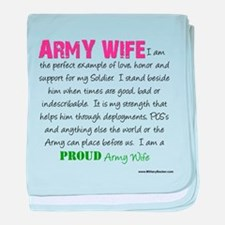 I am...Army Wife.png baby blanket