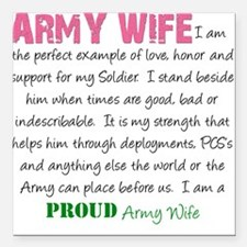 """I am...Army Wife.png Square Car Magnet 3"""" x 3"""""""