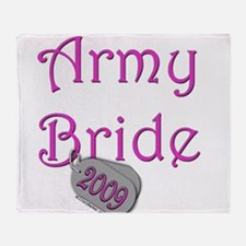 Army Bride Dog Tag_2009.png Throw Blanket