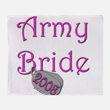 Army Bride Dog Tag 2008.png Throw Blanket